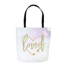Loved Heart Tote Bag