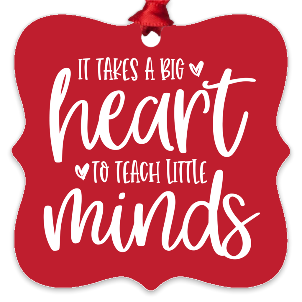 It Takes A Big Heart Metal Ornament