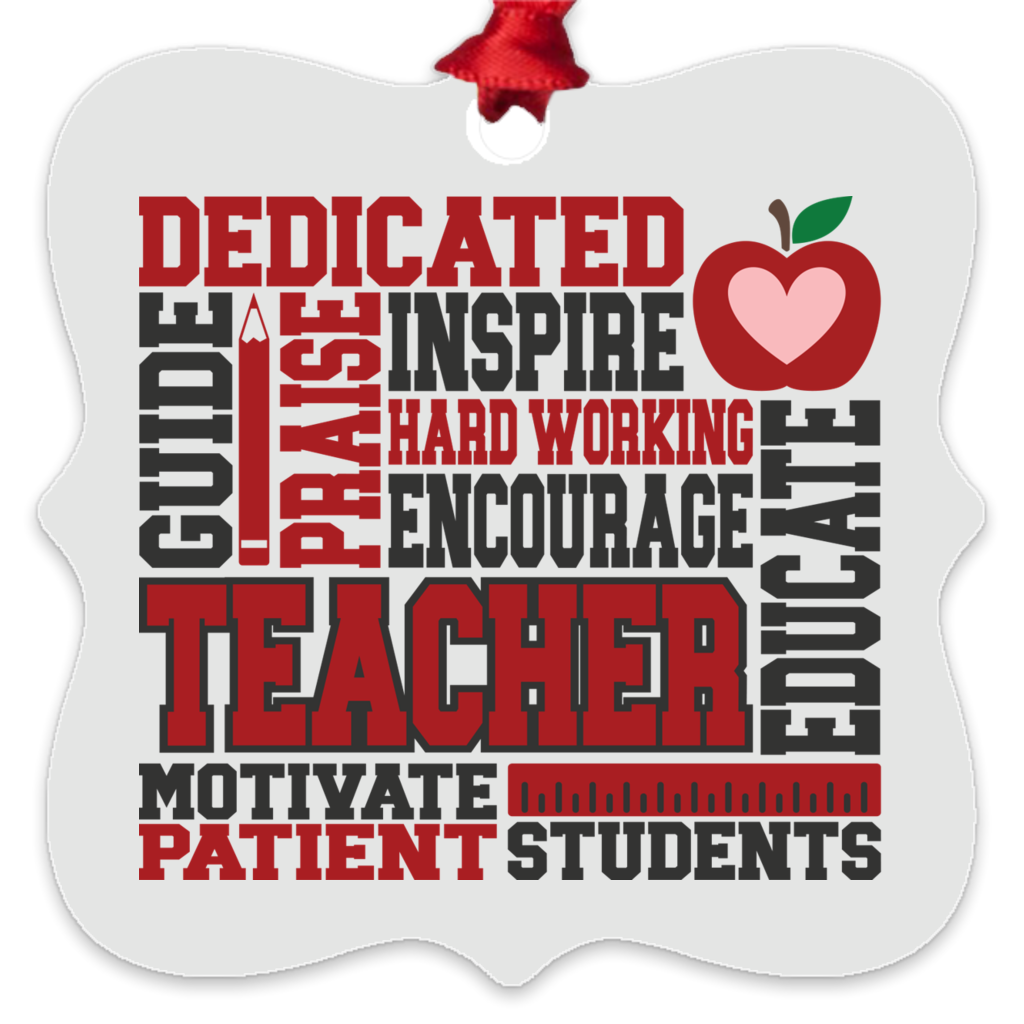 Teacher Metal Ornament