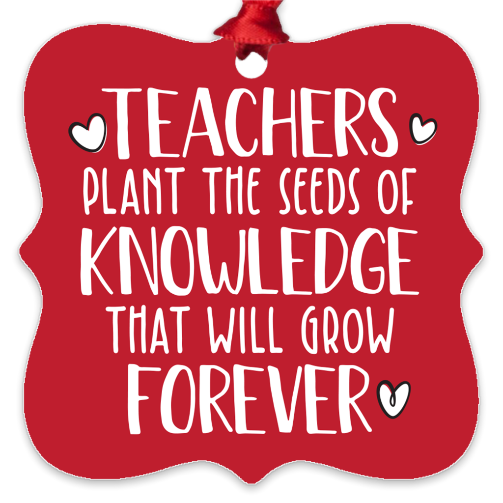Teachers Plant The Seeds Metal Ornament