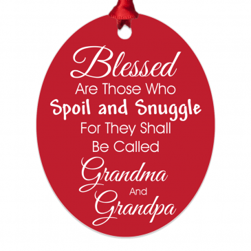 Blessed Grandparents Custom Metal Ornament