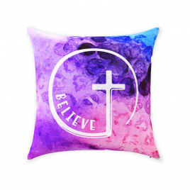 Believe Cross Throw Pillow