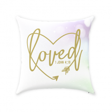 Loved Heart Throw Pillow
