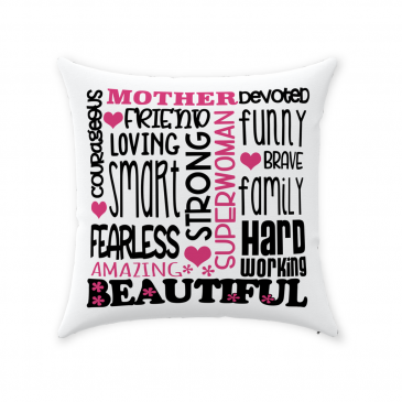 Mother Devoted Throw Pillow