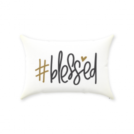 #Blessed Throw Pillow